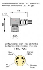 MOD.22 M8 PNP/LED LC5